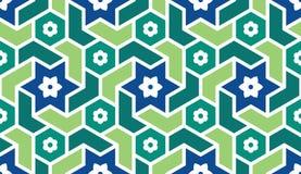 Fondo con il modello senza cuciture nello stile islamico illustrazione vettoriale
