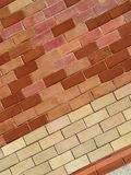 Fondo con il muro di mattoni Immagini Stock