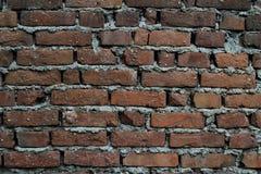 Fondo con il muro di mattoni invecchiato Fotografie Stock