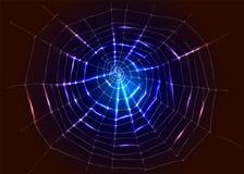 Fondo con il web del ragno illustrazione di stock