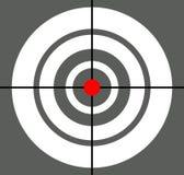 Fondo con l'obiettivo, reticolo, simbolo del crosshair Icona per la FOCA Fotografia Stock