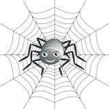 Fondo con la araña y la línea de la araña Foto de archivo