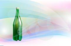 Fondo con la botella de vino ilustración del vector