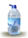 Fondo con la bottiglia di acqua Fotografia Stock