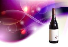 Fondo con la bottiglia di vino Fotografia Stock