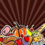 Fondo con la comida Imágenes de archivo libres de regalías