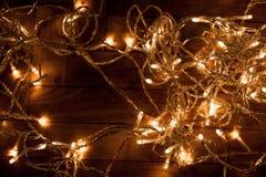 Fondo con la decoración festiva - el brillar intensamente de la Navidad de la Navidad Fotos de archivo
