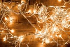 Fondo con la decoración festiva - el brillar intensamente de la Navidad de la Navidad Imagen de archivo