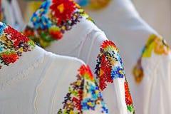 Fondo con la decoración popular del adorno en gotas Fotografía de archivo