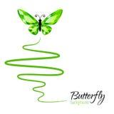 Fondo con la farfalla Immagine Stock