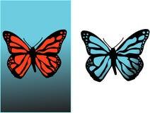 Fondo con la farfalla Fotografie Stock Libere da Diritti