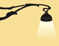 Fondo con la lámpara Foto de archivo libre de regalías