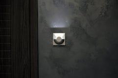 Fondo con la lampadina e spazio per testo o oggetto Immagini Stock