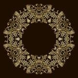 Fondo con la mandala del ornamento del oro Para casarse la invitación, la cubierta o el aviador de libro Elemento redondo del dis ilustración del vector