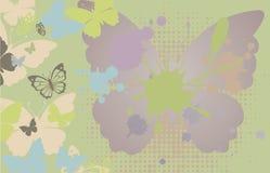 Fondo con la mariposa Foto de archivo
