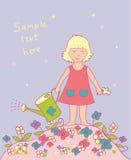 Fondo con la muchacha Imagen de archivo libre de regalías