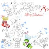Fondo con la Navidad things-04 Fotografía de archivo