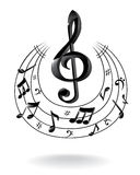 Fondo con la nota di musica. Immagine Stock Libera da Diritti
