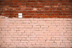 Fondo con la pared de ladrillo lamentable vieja Fotos de archivo
