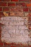 Fondo con la pared de ladrillo lamentable vieja Imagenes de archivo