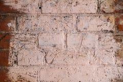 Fondo con la pared de ladrillo lamentable vieja Fotografía de archivo libre de regalías