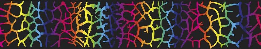 Fondo con la pelle della giraffa nei colori dell'arcobaleno Fotografie Stock Libere da Diritti