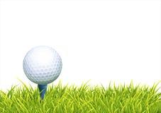 Fondo con la pelota de golf stock de ilustración