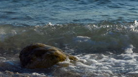Fondo con la resaca del mar almacen de metraje de vídeo
