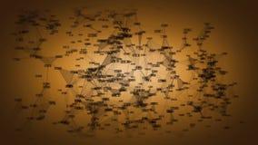 Fondo con la rete di trasmissione di dati tecnologica illustrazione vettoriale