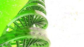Fondo con la rotación de la DNA abstracta representación 3d libre illustration