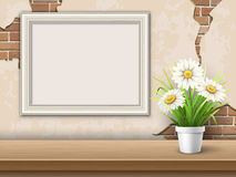 Fondo con la struttura ed il fiore della tavola royalty illustrazione gratis
