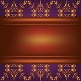 Fondo con la tarjeta de madera y el ornamento Imagen de archivo libre de regalías