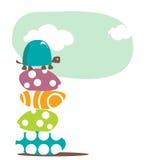 Fondo con la tortuga Imagen de archivo libre de regalías