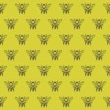 Fondo con las abejas Foto de archivo libre de regalías