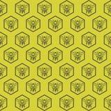 Fondo con las abejas Imagenes de archivo