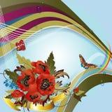 Fondo con las amapolas y los cornflowers libre illustration