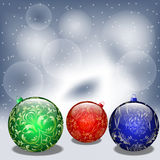 Fondo con las bolas de la Navidad. ilustración del vector