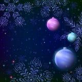 Fondo con las bolas de la Navidad Foto de archivo libre de regalías