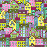 Fondo con las casas coloridas Fotografía de archivo