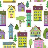 Fondo con las casas coloridas Foto de archivo libre de regalías