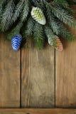 Fondo con las decoraciones de la Navidad Fotografía de archivo libre de regalías