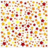 Fondo con las estrellas coloridas Foto de archivo libre de regalías