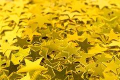 Fondo con las estrellas del oro Foto de archivo libre de regalías