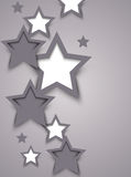 Resuma el fondo con las estrellas ilustración del vector