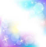 Fondo con las estrellas y redondo que brillan intensamente