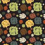 Fondo con las figuras abstractas varicoloured Imagen de archivo libre de regalías