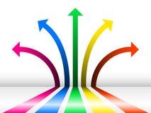 Fondo con las flechas ilustración del vector