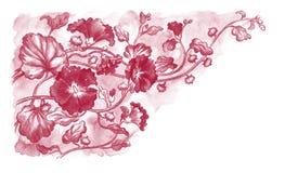 fondo con las flores ilustración del vector