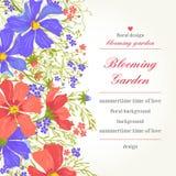 Fondo con las flores Stock de ilustración