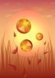 Fondo con las flores abstractas libre illustration